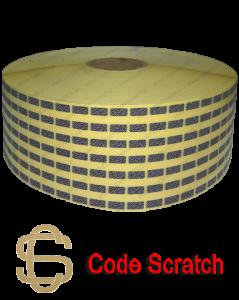 لیبل اسکرچ، جهت مخفی نمودن رمز استفاده میشود.